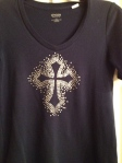 Crystal Cross T-Shirt
