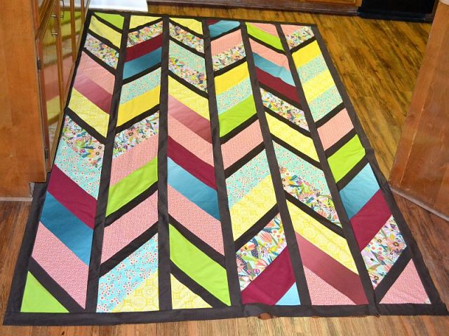 I love how this quilt top turned out!