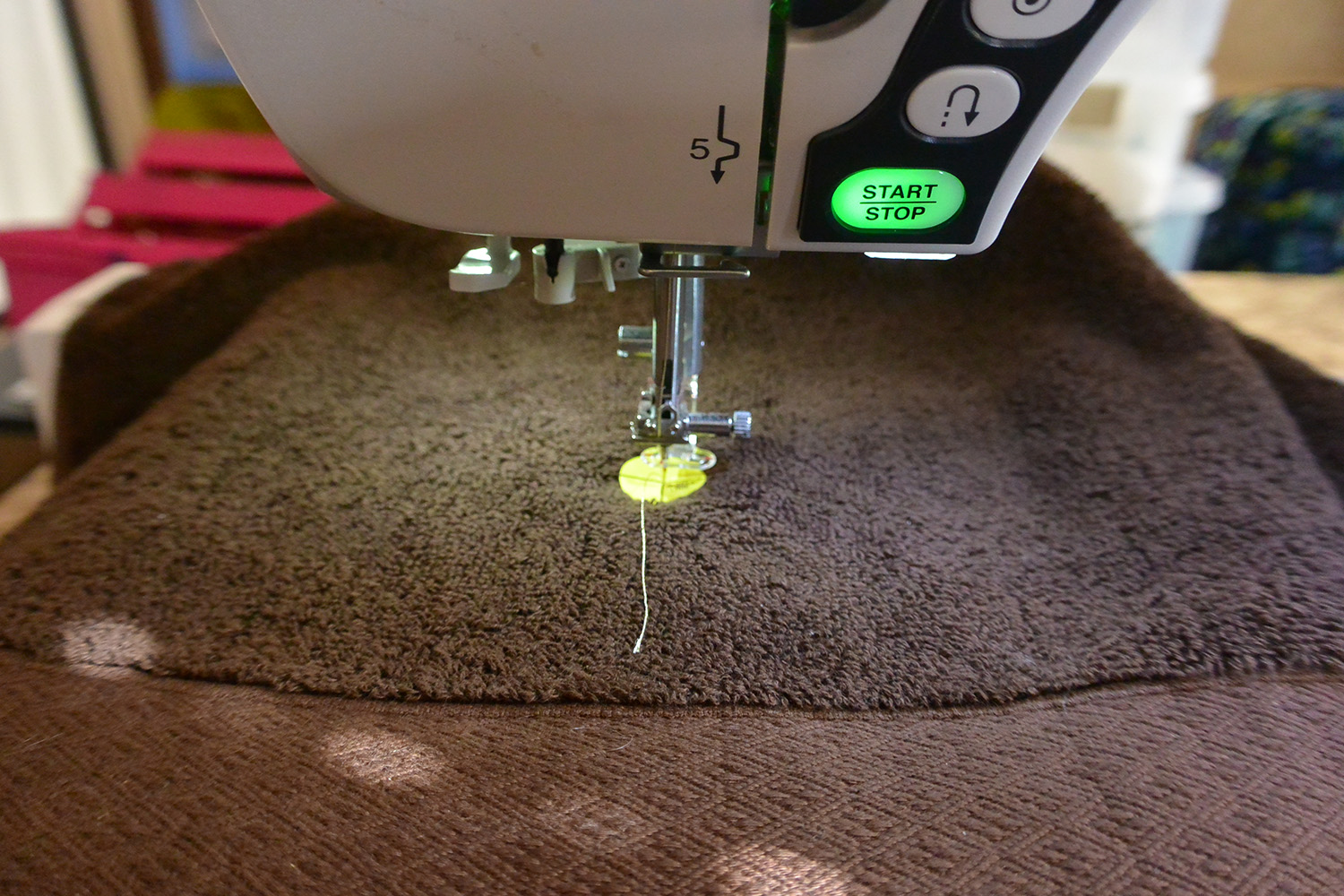 Place A Water Soluble Topping Or Heat N' Gone On The Embroidery Area Use A  Piece Of Floriani Pink Embroidery Tape To Hold